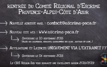 Ouverture de l'extranet FFE le 6 septembre 2018