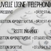 Nouvelle ligne téléphonique !